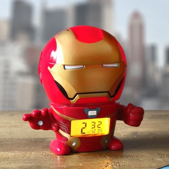 MARVEL Avengers IronMan Night Light Alarm Clock